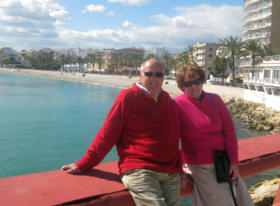 Members enjoying a Casual Get-Together in winter sunshine in Spain