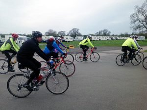 An on-site cycle race